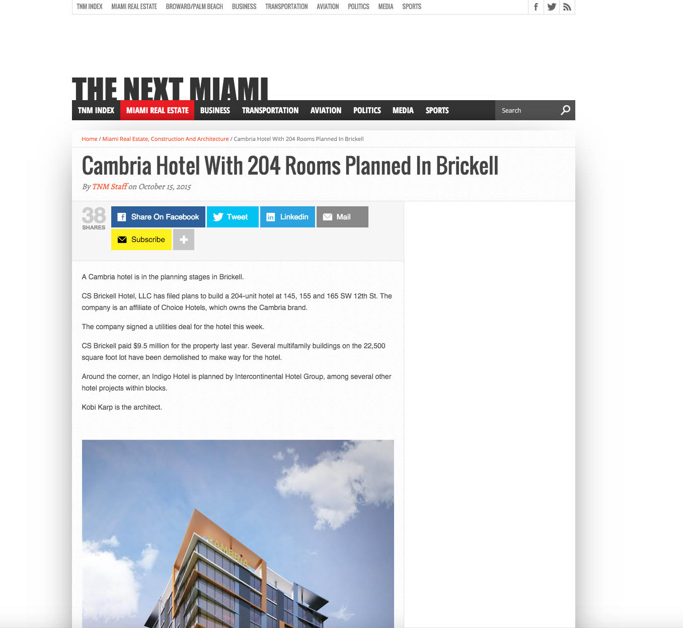 Cambria Hotel with 204 rooms