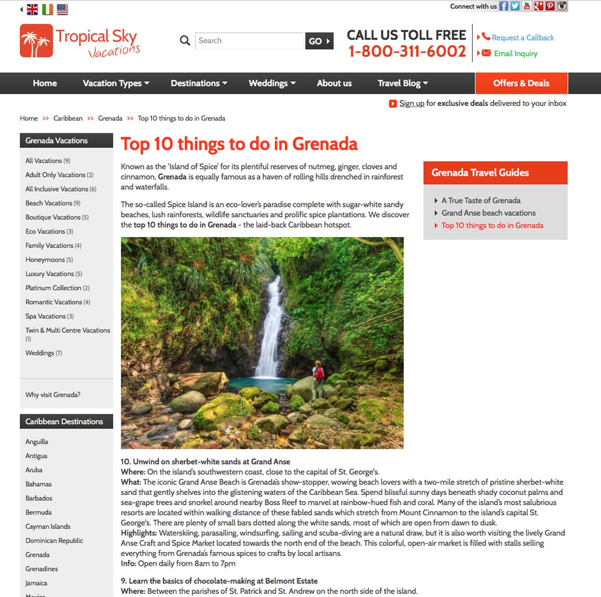 Top 10 things to do in Grenada